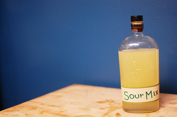 Funnel into a cool old bottle and voila – Homemade Sour Mix