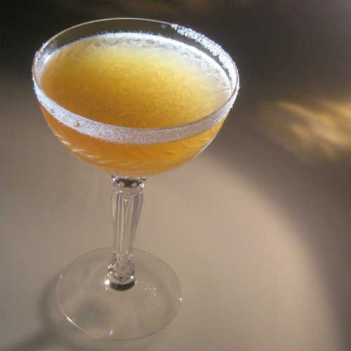 The Sidecar in a Coupe Glass