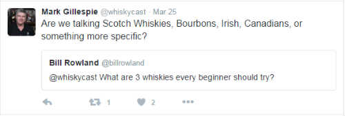 Rye Whiskey Tweet # 3 - Are We Talking Scotch, Bourbons, Irish, Canadians or Other?