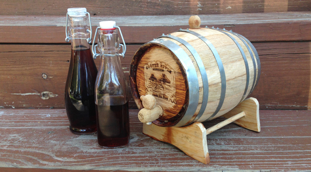 Barrel Aged Manhattans